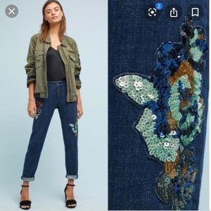 Pilcro Slim Boyfriend sequin jeans